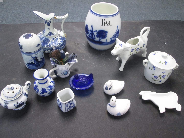 Lot # 12 - Variety of Delft, Cordon Bleu & German-Made Blue & White Items (main image)