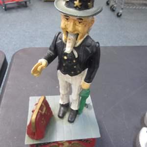 """Lot # 14 - Vintage """"Uncle Sam"""" Cast Iron Bank"""