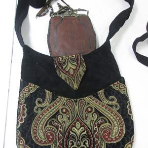 Lot # 40 - Piper's Crossing Purse + Leather Pouch