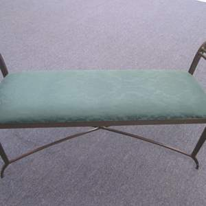 """Lot # 37 - 51"""" Upholstered Bench with Metal Frame"""