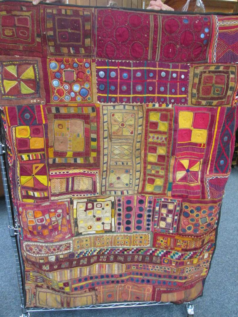 """Lot # 51 - Textile Wall Hanging from India, 37"""" X 52"""" (main image)"""