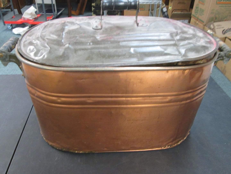 Lot # 52 - Vintage Copper Boiler (main image)