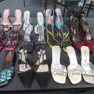 Lot # 53 - 12-Pair Ladies Designer Shoes, LOVED & WORN!!!  Maybe still some life there!
