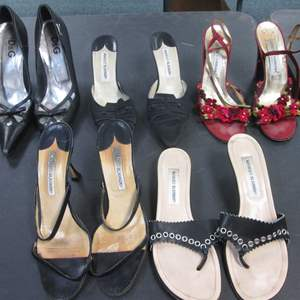 Lot # 54 - 5-Pair Ladies Designer Shoes, LOVED & WORN!  Will need some TLC!