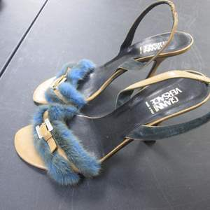Lot # 59 - Gianni Versace Fur-Trimmed Heels, Italy Size 39