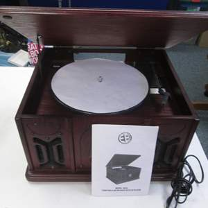 Lot # 74 - Electro Brand #9222, Turntable/Radio/CD (CD not working correctly)