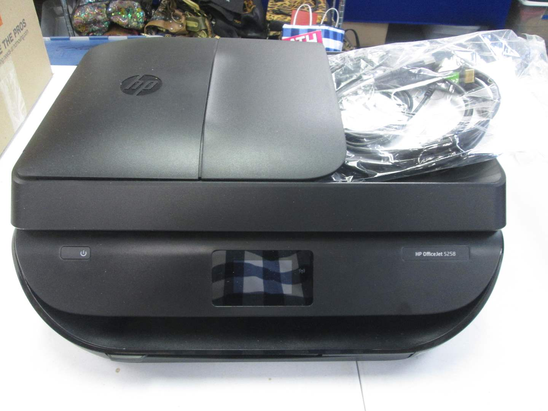 Lot # 75 - Multi-Function HP OfficeJet Printer #5258, Works! (main image)