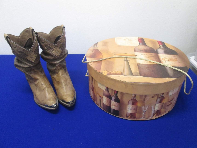 Lot # 80 - Hatbox & Capezio Boots 6M (main image)