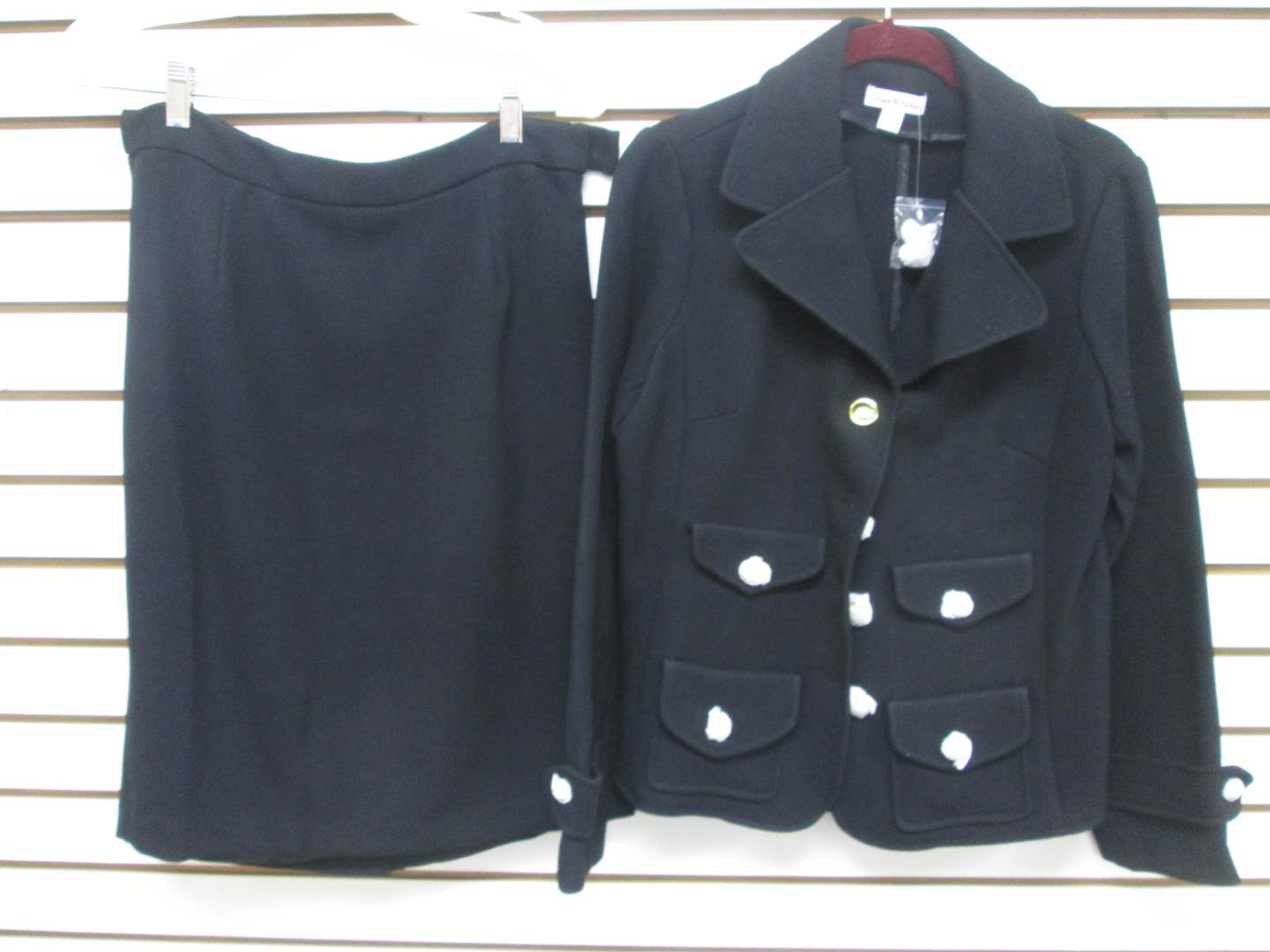Lot # 86 - Joan Rivers Suit, NEW, Tag on and buttons still covered in paper! (main image)