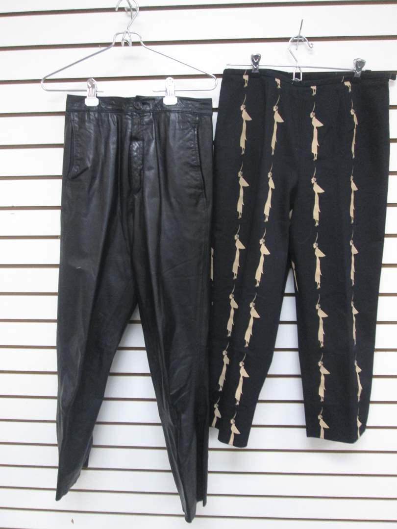 Lot # 88 - 2-Designer-Label Pants (8) (10), Leather & Casual (main image)