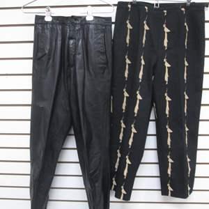 Lot # 88 - 2-Designer-Label Pants (8) (10), Leather & Casual