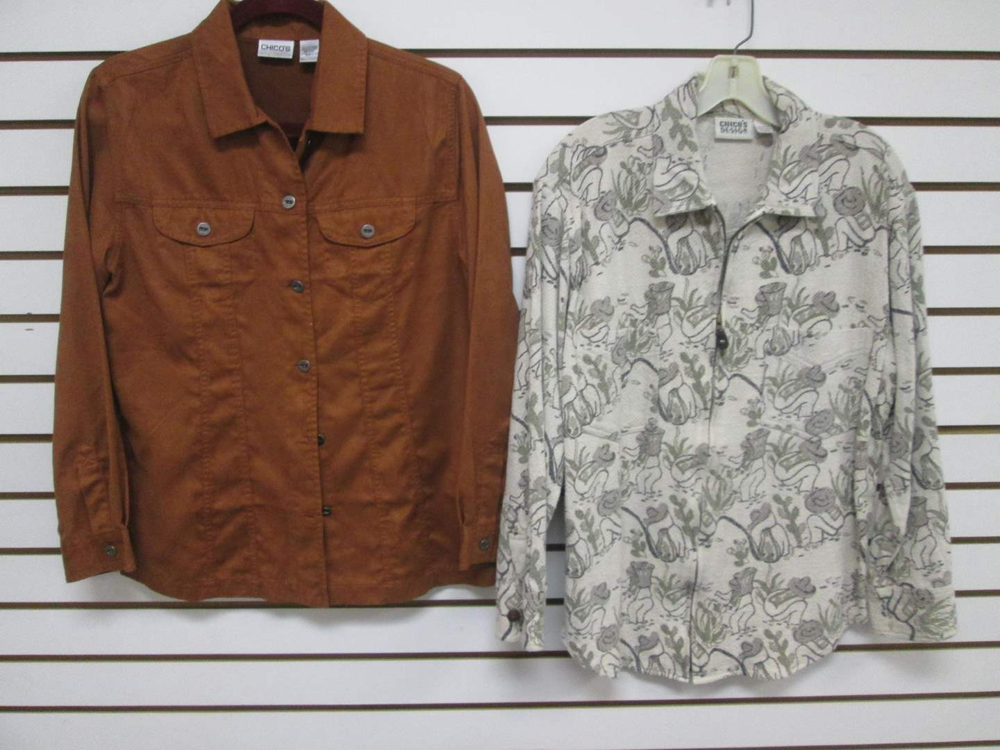Lot # 90 - 2-Chico's Shirts/Blouses, (S) & (8) (main image)