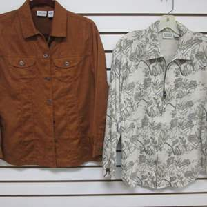 Lot # 90 - 2-Chico's Shirts/Blouses, (S) & (8)