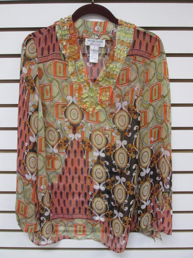 Lot # 92 - Blouse by Victor Costa, Small Size (main image)