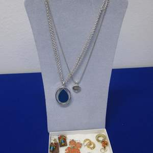 Lot # 118 - 7-Pair Earrings & 2-Necklaces, Costume Jewelry