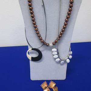Lot # 119 - 3-Costume Jewelry Necklaces & 1-Pair Earrings