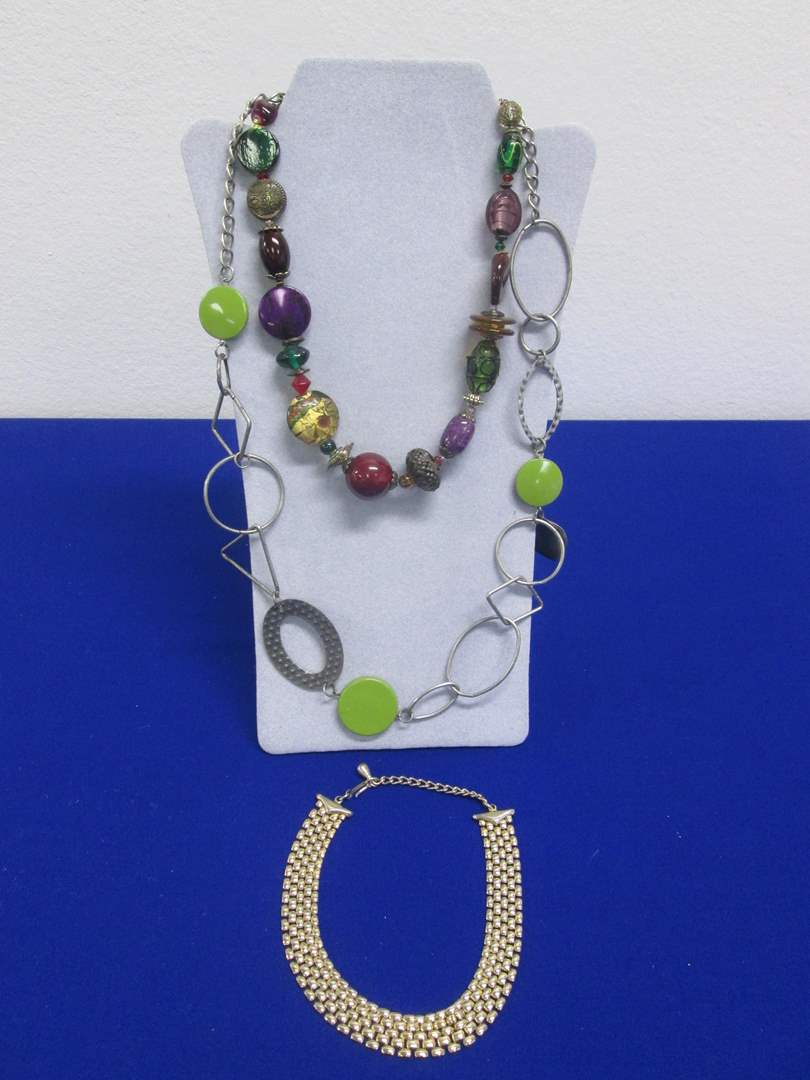 Lot # 137 - Costume Jewelry Necklaces (3) (main image)