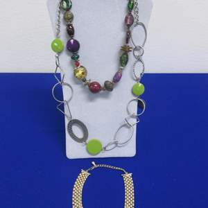 Lot # 137 - Costume Jewelry Necklaces (3)