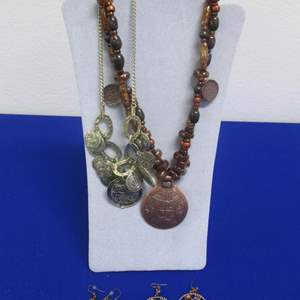 Lot # 138 - 2-Pair Earrings & 2-Necklaces, All Costume
