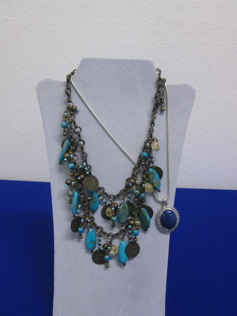 Lot # 143 - 2-Costume Jewelry Necklaces (main image)