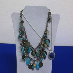 Lot # 143 - 2-Costume Jewelry Necklaces