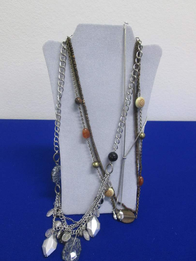 Lot # 144 - 3-Costume Jewelry Necklaces (main image)