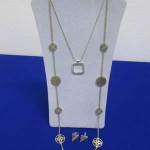 Lot # 150 - 2-Costume Necklaces & Cufflinks