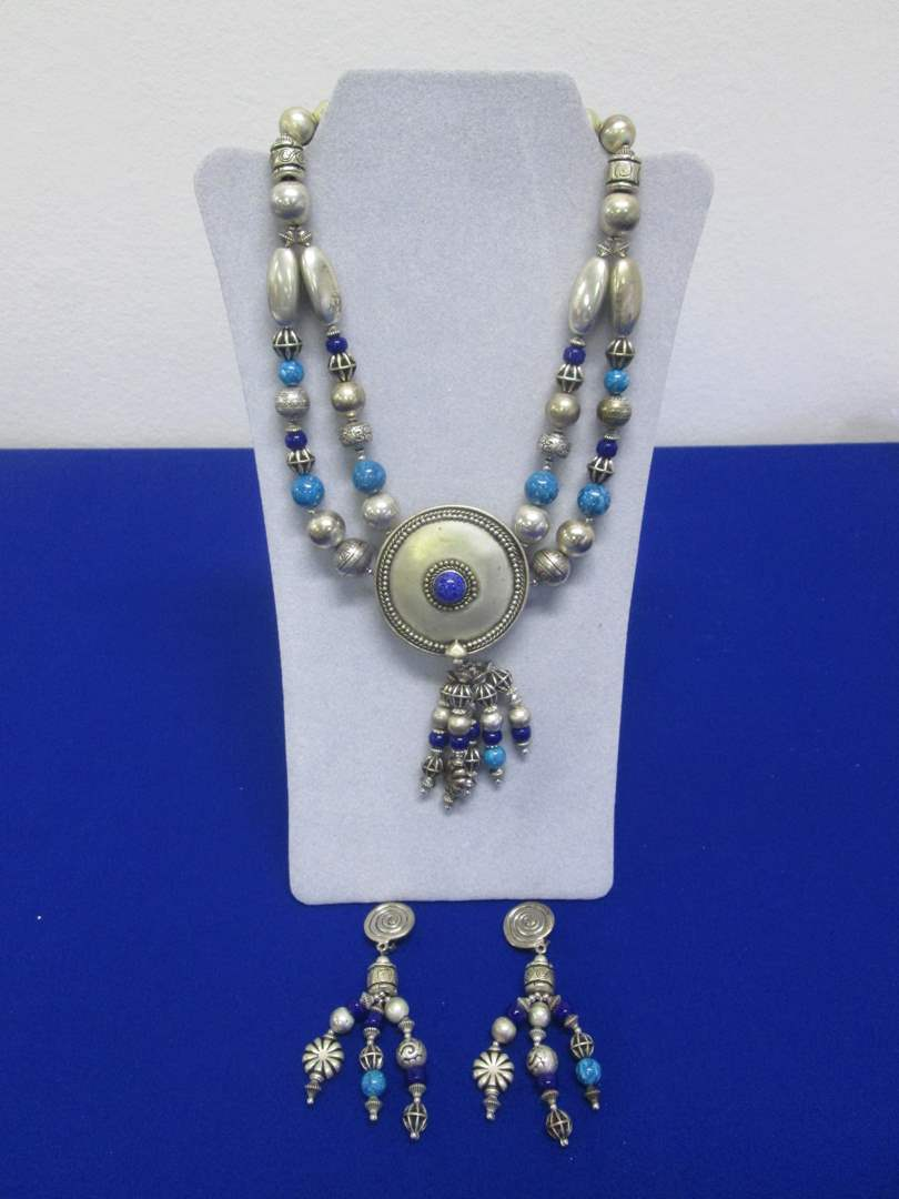 Lot # 157 - Tribal Earrings & Necklace (main image)