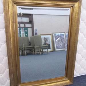 Lot # 15 - Framed Wall-Mount Mirror, Carved Details