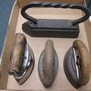 Lot # 30 - Antique Sad Iron Collectibles
