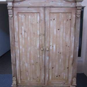 """Lot #31 - 54"""" Ficks Reed Armoire, Distressed Pine Finish"""
