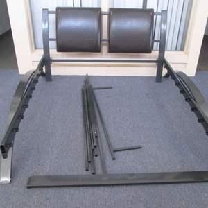 Lot # 41 - Queen-Size Platform Bed, Contemporary Design, Upholstered Headboard