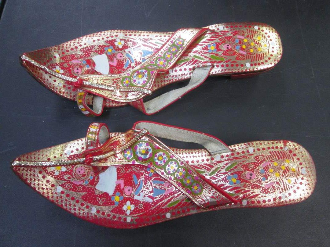 Lot # 57 - India Sandals, Bright Colors & Patterns  (main image)