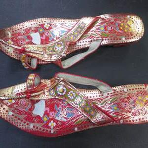 Lot # 57 - India Sandals, Bright Colors & Patterns