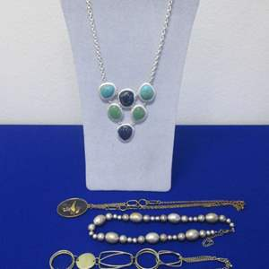 Lot # 111 - 4-Necklace-Costume Jewelry Pieces