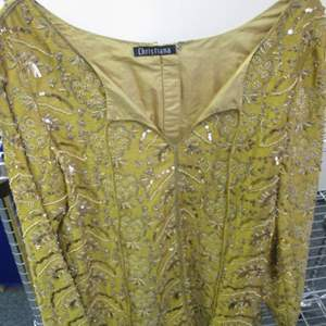 Lot # 170 - Long Sleeved Silk Beaded Blouse by Christiana New