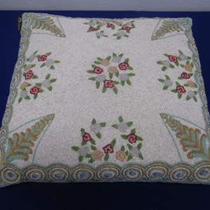Lot # 171 - Beaded Throw Pillow by Christiana New