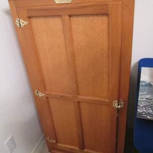 "Lot # 39 - ""White Clad"" Ice Box Cabinet"