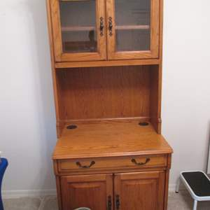 Lot # 42 - Computer Cabinet; Pull-Out, Storage & Cubbies