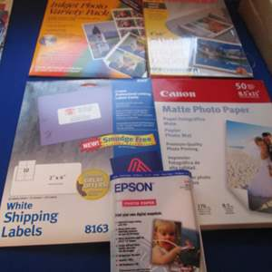 Lot # 45 - Printer Papers & Labels