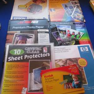 Lot # 46 - Photo Papers & Sheet Protectors