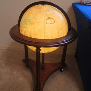 Lot # 54 - Replogle Lighted Globe in Floor Stand