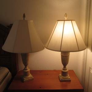 Lot # 63 - Pair of Table Lamps, Both Work!