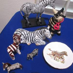 Lot #92 - Variety of Zebra Collectibles, including Painted Ponies, 2005