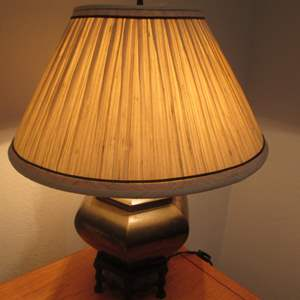 Lot # 104 - Lamp with Ethnic-Style Base