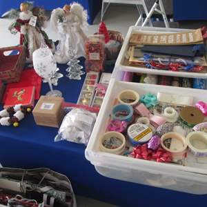Lot # 12 - Christmas Wrapping Paper, Decor & Ornaments