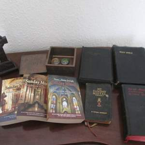 Lot # 119 - Older Bibles & Other Religious Items