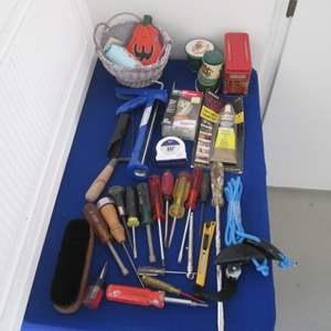 Lot # 23 - Variety of Screwdrivers & Other Hand Tools & Supplies