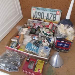 Lot # 25 - Miscellaneous Hardware & Garage Items