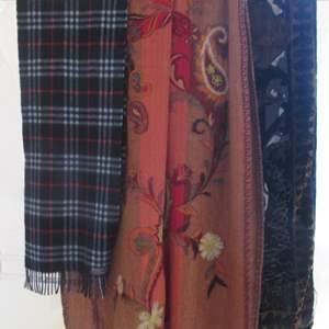 Lot # 145 - 3-Large Scarves, Burberry & Decorative Patterns
